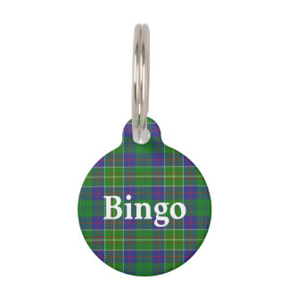 Happy Pet Clan Hunter Tartan Plaid Pet Tag
