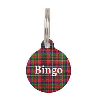 Happy Pet Clan Innes Tartan Plaid Pet Name Tag