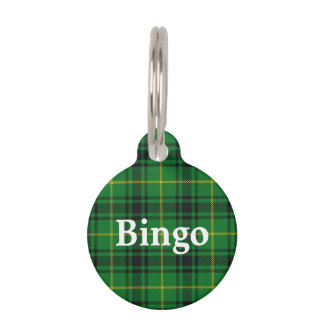 Happy Pet Clan MacArthur Tartan Plaid Pet ID Tag