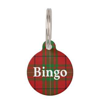 Happy Pet Clan MacAulay Tartan Plaid Pet Tag
