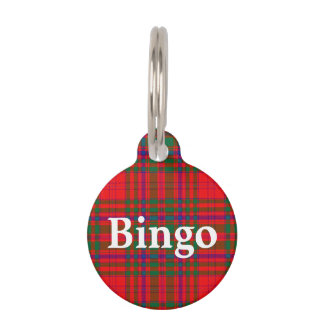 Happy Pet Clan MacDougall Tartan Plaid Pet Name Tag