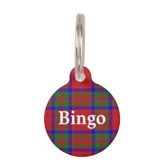 Happy Pet Clan MacGillivray Tartan Plaid Pet Tag