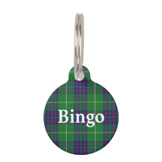 Happy Pet Clan MacIntyre Tartan Plaid Pet Name Tag