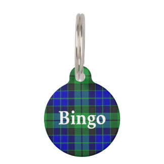 Happy Pet Clan MacKay Tartan Plaid Pet Name Tag
