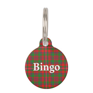 Happy Pet Clan MacKinnon Tartan Plaid Pet ID Tag