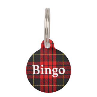 Happy Pet Clan MacQueen Tartan Plaid Pet Tag