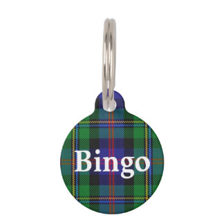 Happy Pet Clan Malcolm Tartan Plaid Pet Tag