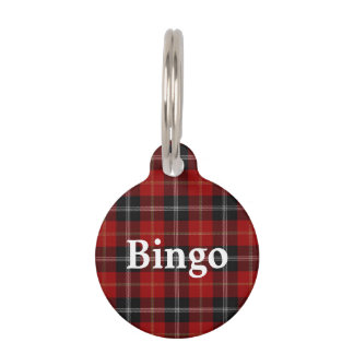 Happy Pet Clan Marjoribanks Tartan Plaid Pet ID Tag