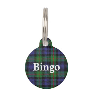 Happy Pet Clan Murray Tartan Plaid Pet Tag