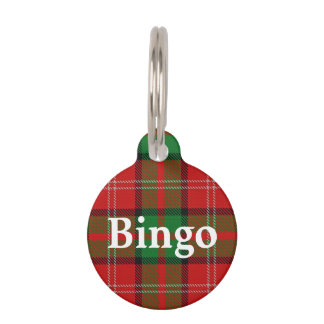 Happy Pet Clan Nisbet Tartan Plaid Pet Name Tag