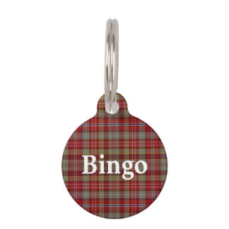 Happy Pet Clan Ogilvie Ogilvy Tartan Plaid Pet Tag