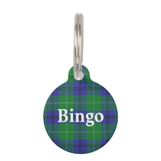 Happy Pet Clan Oliphant Tartan Plaid Pet Name Tag