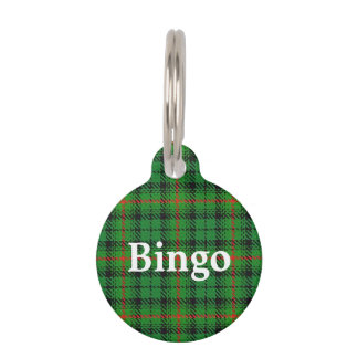 Happy Pet Clan Urquhart Tartan Plaid Pet Name Tag