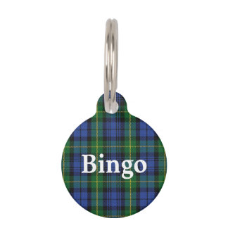 Happy Pet House of Gordon Clan Tartan Plaid Pet Name Tag