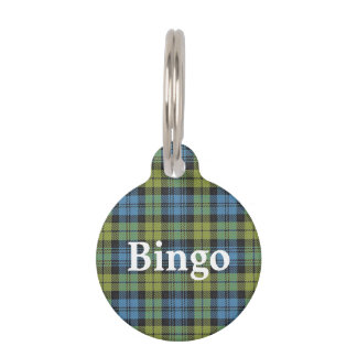 Happy Pet Scottish Campbell Tartan Plaid Pet ID Tag
