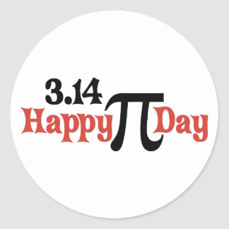 Happy Pi Day 3.14 - March 14th Classic Round Sticker