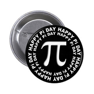 Happy Pi Day Buttons Black and White