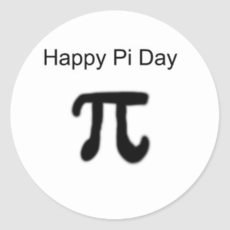 Happy Pi Day Classic Round Sticker