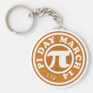 Happy Pi Day March 14 Keychain