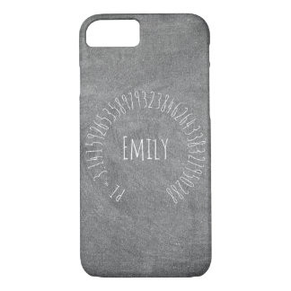 Happy Pi Day Math Digits 3.14 Mathematics Chalks iPhone 8/7 Case