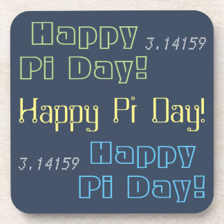Happy Pi Day! Math Themed Typography 3.14159 Coaster