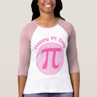 Happy Pi Day Numbers Pink T Shirt