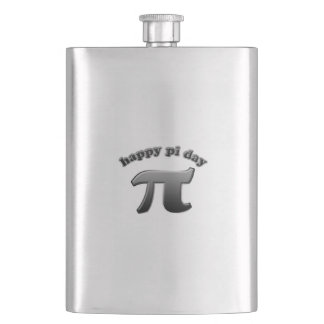Happy Pi Day Pi Symbol for Math Nerds on March 14 Flasks