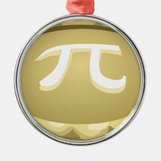 happy pi day pie metal ornament