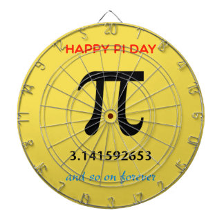Happy Pi Day, So On and Forever Dartboard