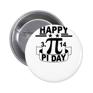 Happy Pi Day T-Shirt . 2 Inch Round Button