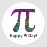Happy Pi Day Tees and Gifts Round Stickers