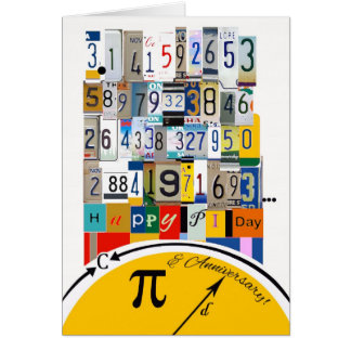 Happy Pi Day Wedding Anniversary, Number Crunch Card