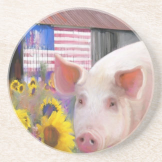 Happy Pig From West Marin Drink Coasters