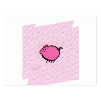 Happy piggy post card