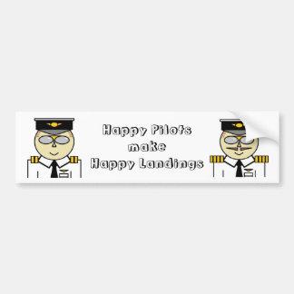 Happy pilots make happy landings Bumper Bumper Sticker