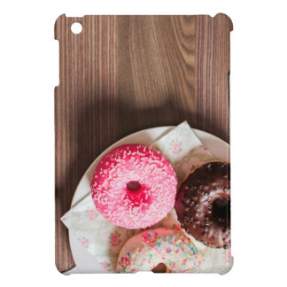 Happy Pink and Sprinkle Donut Print Case For The iPad Mini