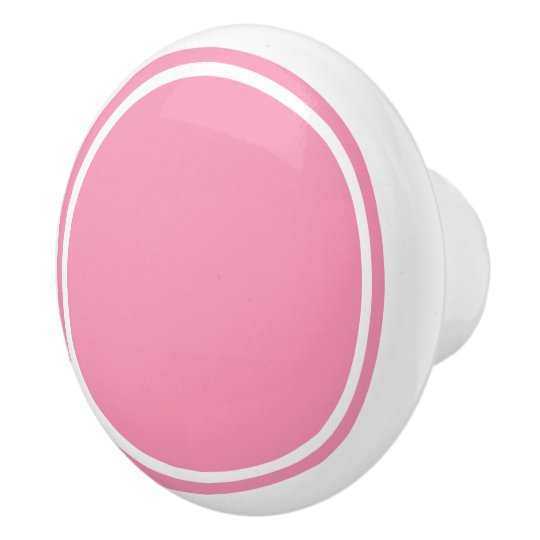 Happy Pink and White Ceramic Knob