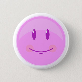 Happy Pink Face 2 Inch Round Button