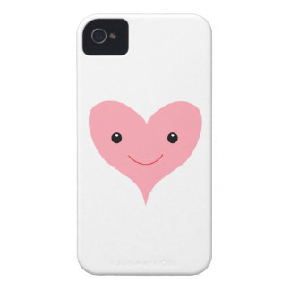 Happy Pink Heart iPhone 4 Case-Mate Case