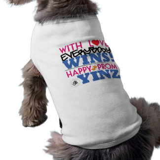 Happy Pink Prom Yinz Design Pet Tank Shirt