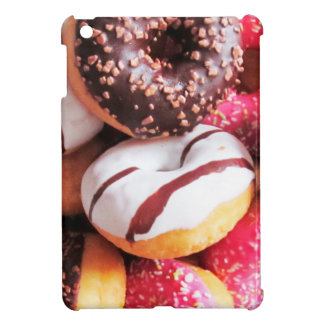 Happy Pink Sprinkle and Striped Donut Print iPad Mini Cover