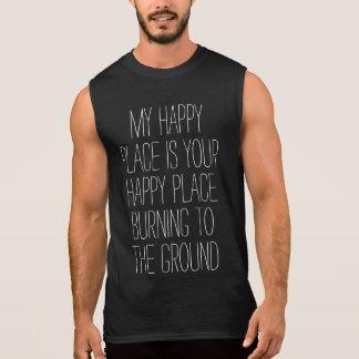 Happy Place Burning Sleeveless Shirt