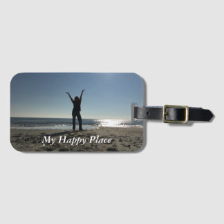 Happy Place Luggage Tag