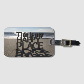Happy Place Luggage Tag I