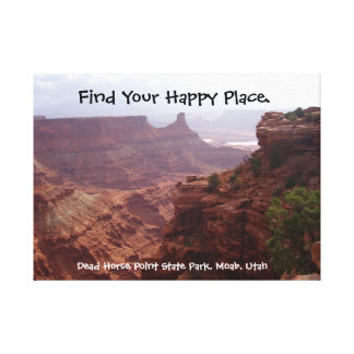 Happy Place Utah Canvas Print