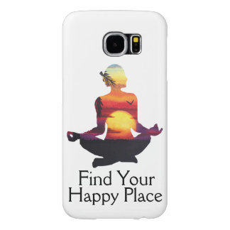 Happy Place Yoga Pose Sunset Samsung Galaxy S6 Cases