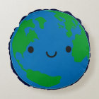 Happy Planet Earth Round Pillow