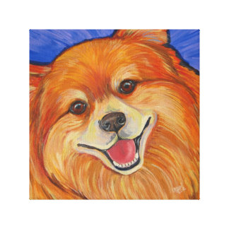 Happy Pom Canvas Print