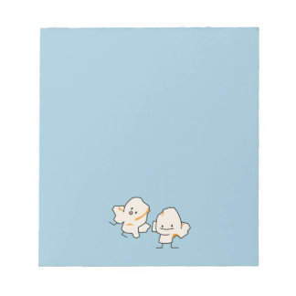 Happy Popcorn kernels popping buttered corn Notepad