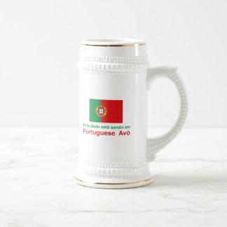 Happy Portuguese Avo (Grandfather) Beer Stein